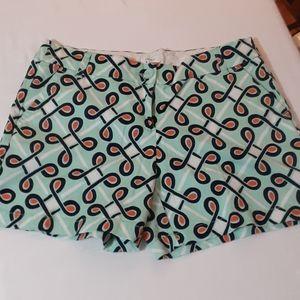 Crown & ivy teal coral shorts 6